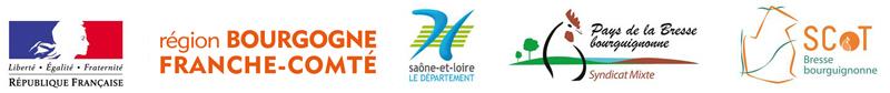 Logos République française, Bourgogne - Conseil régional , Saône-et-Loire - Le département