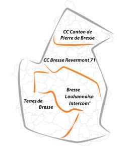 Cartographie du Pays de Bresse bourguignonne